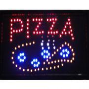 Placa Led Quadro Letreiro Luminoso Decorativo Pizza cd 1601