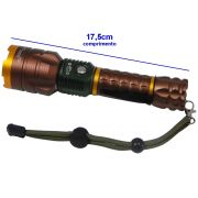 Lanterna T�tica Policial Led Cree Recarreg�vel DS-2168 Cobre