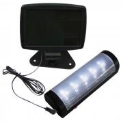 Lumin�ria Solar para parede e teto 5 LEDS premium 1385