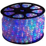Mangueira Luminosa LED Corda Natal Pisca Colorido Rolo 100mt - 220v - 1098