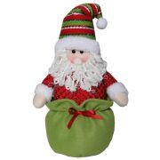 Papai Noel em Pel�cia com 30cm de Altura CBRN0241 CD0019