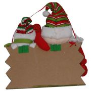 Placa Feliz Natal Papai Noel com 28cm de Largura CBRN0302 CD0043