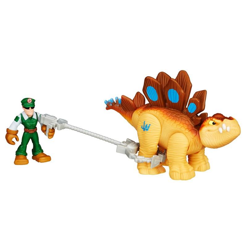 Boneco Jurassic World Dinossauro Stegosaurus e Ca�ador Playskool Heroes - Hasbro