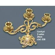 Casti�al para 3 Velas Bronze