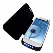 Bateria externa 5000mAh com flip cover para Galaxy S3 I9300 - Cor Preta
