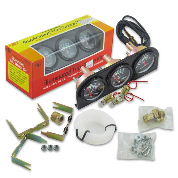 Kit 3 Relógios Medidores Para Painel Luz Branca – Medidor de Água