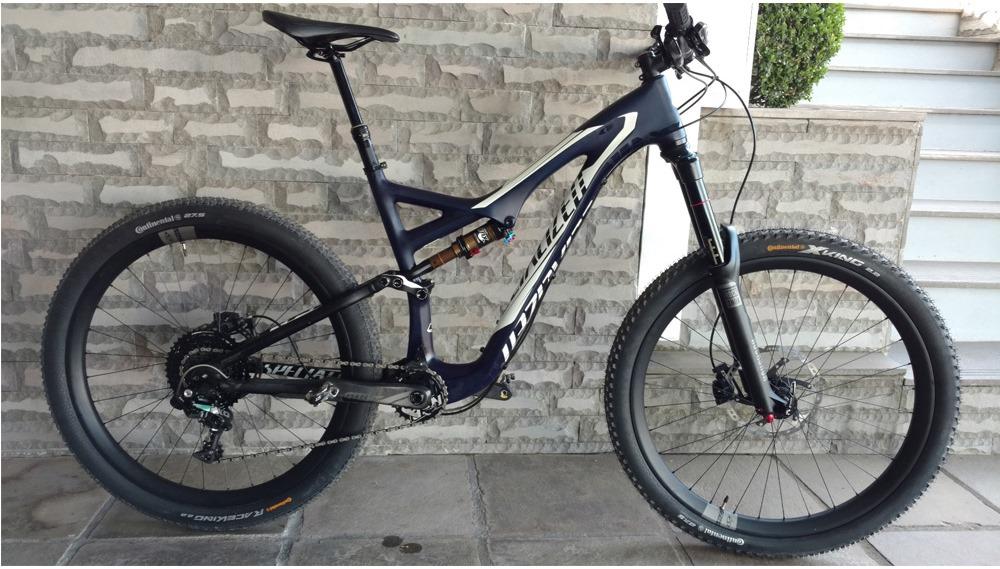 Bicicleta Specialized Stumpjumper Expert Evo Carbon 650B - SEMI NOVA  - IBIKES