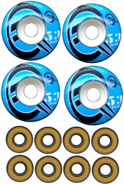 Roda de Skate 53 mm 99 A + 8 rolamentos abec 13