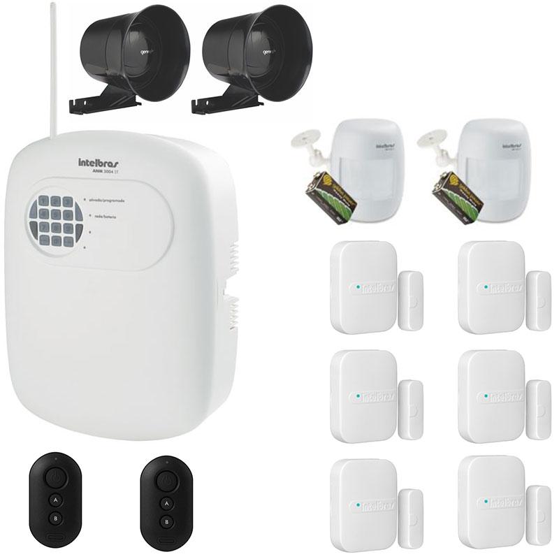Kit Alarme Sem Fio Intelbras com 8 Sensores