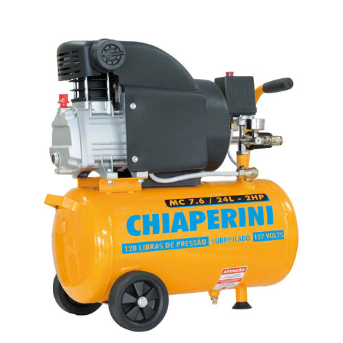 Compressor de Ar Chiaperini MC 7.6/24L - 2HP - Linha Hobby