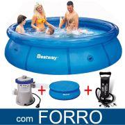 Kit Piscina Infl�vel Bestway 3.700ls Filtro Capa Bomba Forro