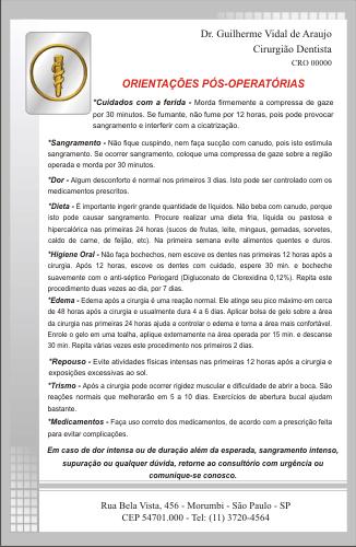Orienta��es P�s-Operat�rias - Ref. 3300