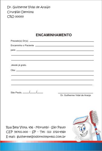 Bloco Encaminhamento Paciente PEDIATRIA - Ref. 3433