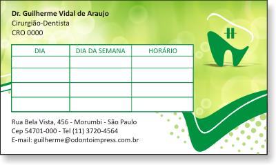 Cart�o de Retorno ORTODONTIA - Ref. 2073