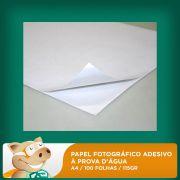 Papel Fotogr�fico Adesivo � Prova D'�gua A4 100 Folhas 115gr