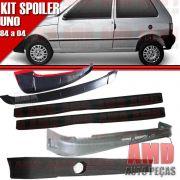 Kit Spoiler Uno 84 � 04 2 Portas Dianteiro + Lateral Com Tela + Traseiro + Aerofolio