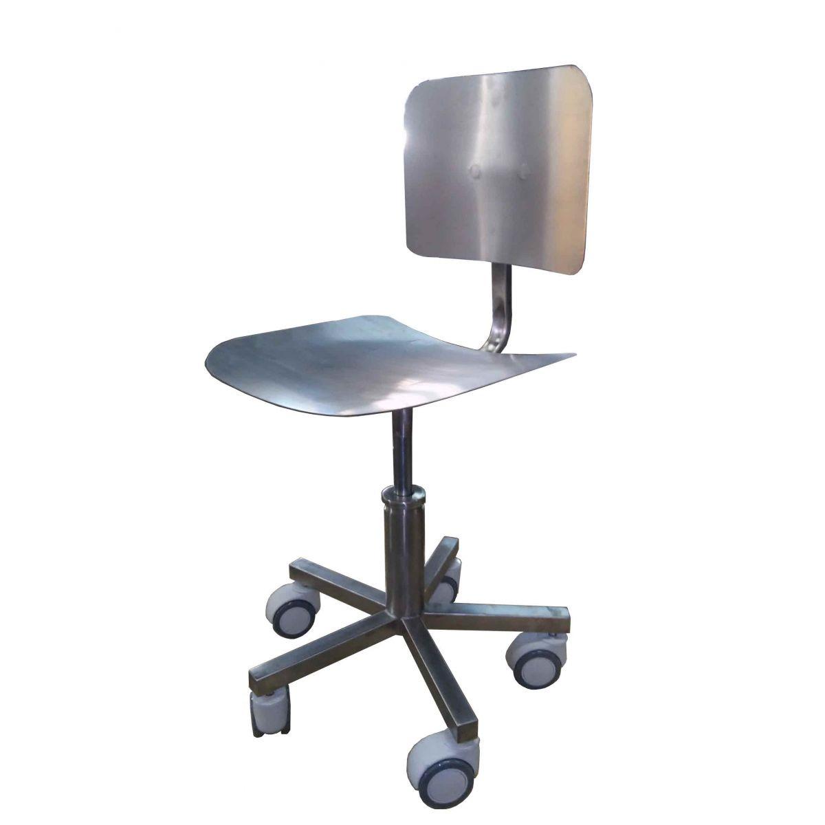Cadeira com regulagem de altura em aço inox Fábrica de Carrinhos  #80664B 1200x1200