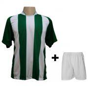 Fardamento modelo Milan Verde/Branco 18+1 (18 camisas + 18 cal��es + 1 conjunto de goleiro) - Frete Gr�tis Brasil + Brindes