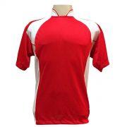 Uniforme Esportivo - Jogo de Camisa modelo Su�cia com 14 pe�as Vermelho/Branco + 1 Camisa de Goleiro - PlayFair - Frete Gr�tis Brasil + Brindes