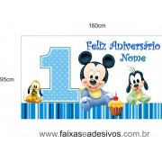 Painel Mickey Baby 1,60 x 0,95m