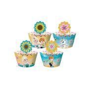 Capa Cupcake Frozen Fever - Febre Congelante 12un
