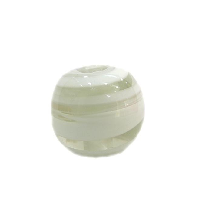 Bola de murano GG branco- MU014