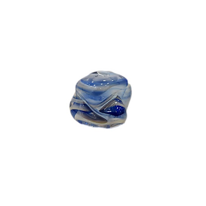 Meteoro de murano P azul�o\ branco irisado (10 unidades) - MU322