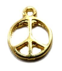 Pingente Paz e amor m�dio dourado- PTD013