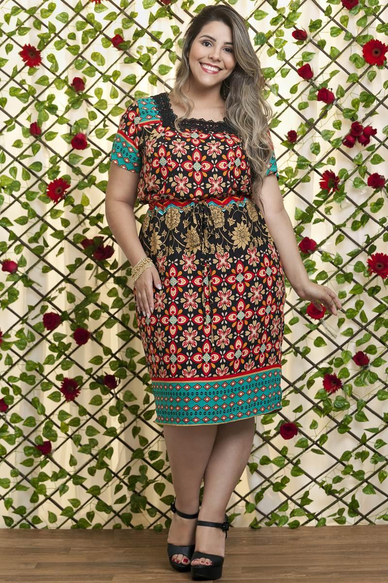 Vestido Bella Heran�a Protea Floral 6253