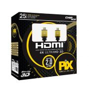 Cabo HDMI 2.0 - 4K Ultra HD 3D - 25 Metros