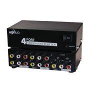 Distribuidor RCA 1 Para 4 Sa�das Amplificado