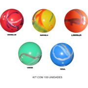 Bolas de Vinil Marmorizadas kit com 100