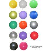 Bolas de Vinil 23 cm Lisa - Kit com 10