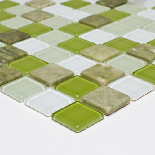 Pastilha 3,0x3,0 Mix Mosaic Green P� Van Gogh