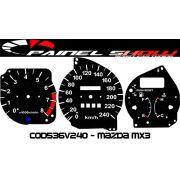 Kit Transl�cido p/ Painel - Cod536v240 - Mazda Mx3