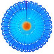 MARGARIDA RENDADA 630mm (63cm) Tons da Azul c/ Laranja