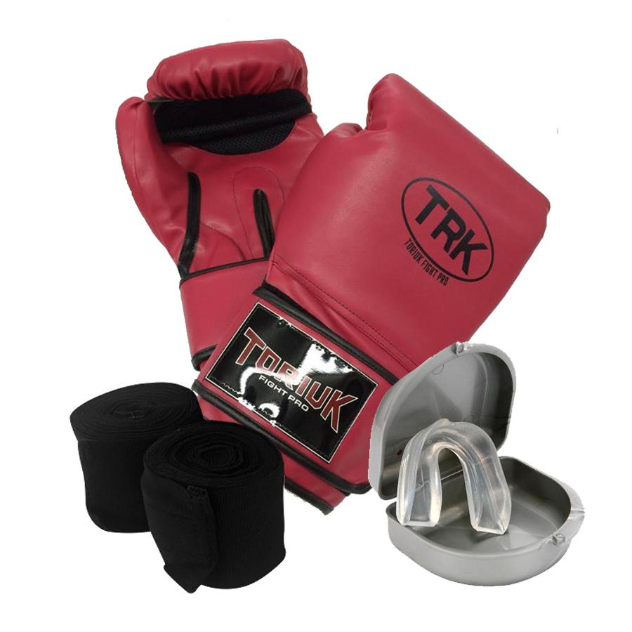 Kit Fight Toriuk - Medium-  Luva de Boxe + Bandagem + Protetor Bucal
