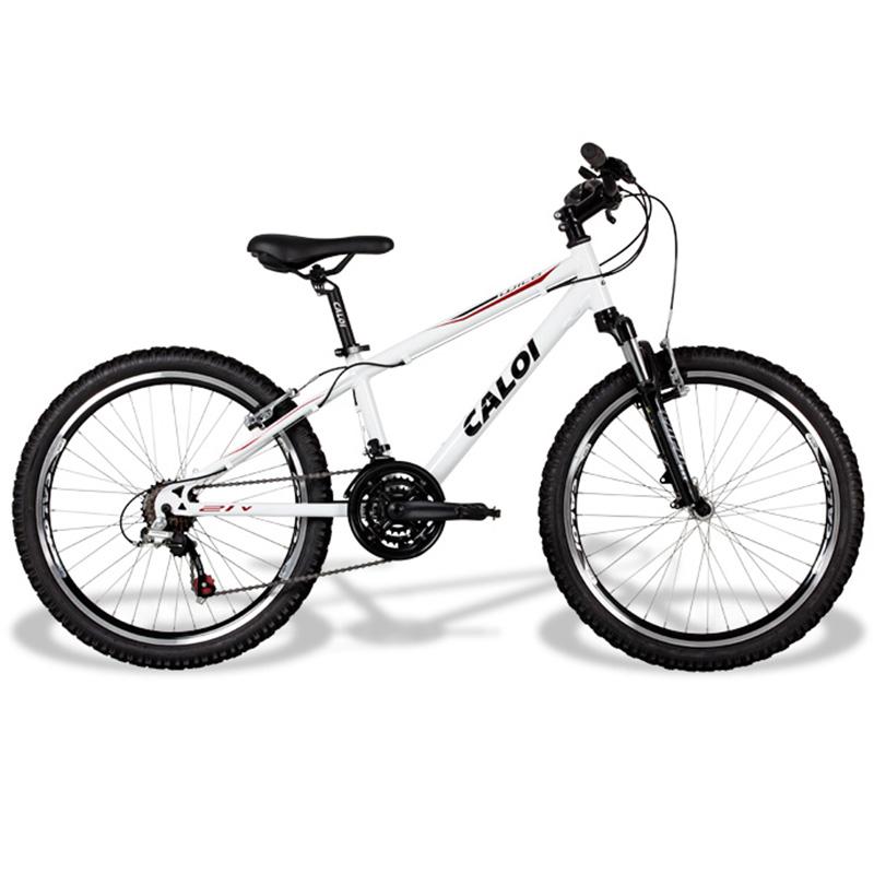 Bicicleta Caloi Wild Aro 24 Branca