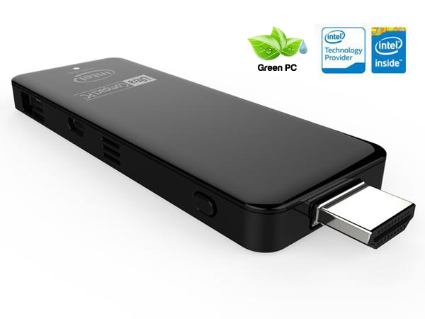ULTRA COMPACT PC  STICK ATOM QC 1.33GHZ | RAM 2GB | HD 32GB | WIFI | BT | HDMI | USB | W10 - Z3735W