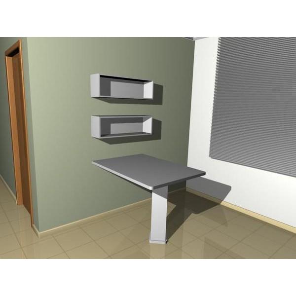 mesa fixa parede sem nicho