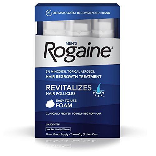 Rogaine Foam 5% - Minoxidil em Espuma 5% - Tratamento para 3 meses