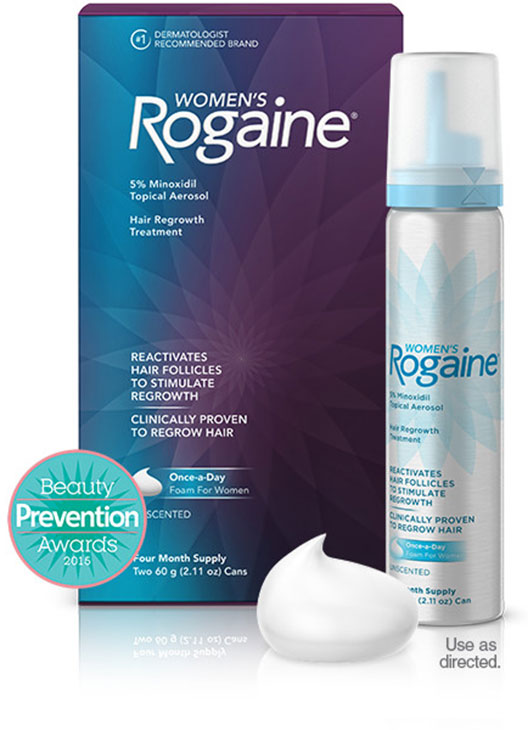 Rogaine Foam para Mulheres - Minoxidil em Espuma 5% - Tratamento para 4 meses