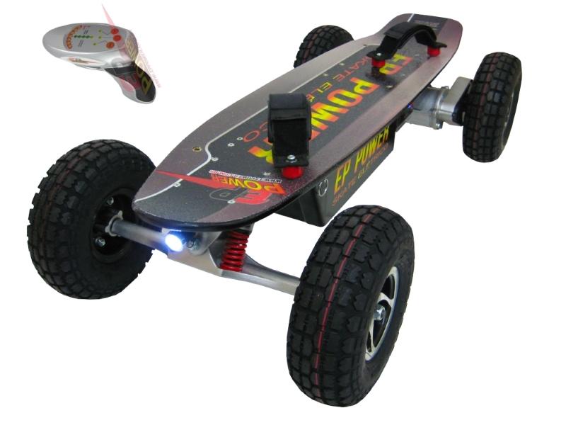 Skate El�trico Off Road 800w  - EPPOWER c/ Farol, Lanterna, Controle Digital, 14ah
