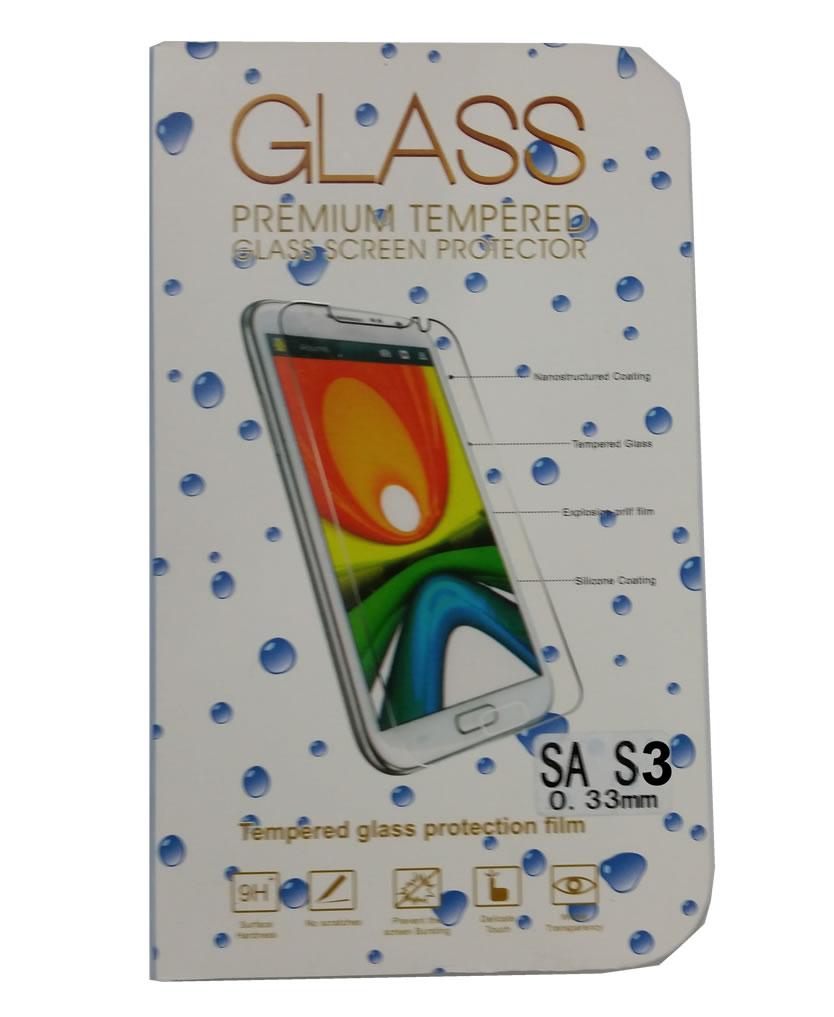 Pel�cula de Vidro Temperado Lisa para Samsung Galaxy S3 i9300 anti impacto
