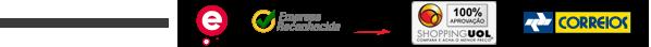 Certificados: Ebit, Empresa Reconhecida Buscap�, Shopping UOL e Correios