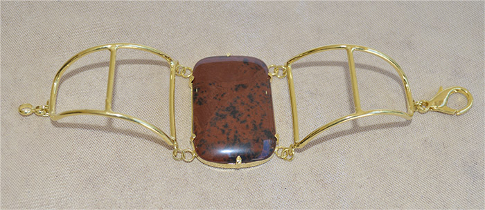 bracelete de obsidiana mogno