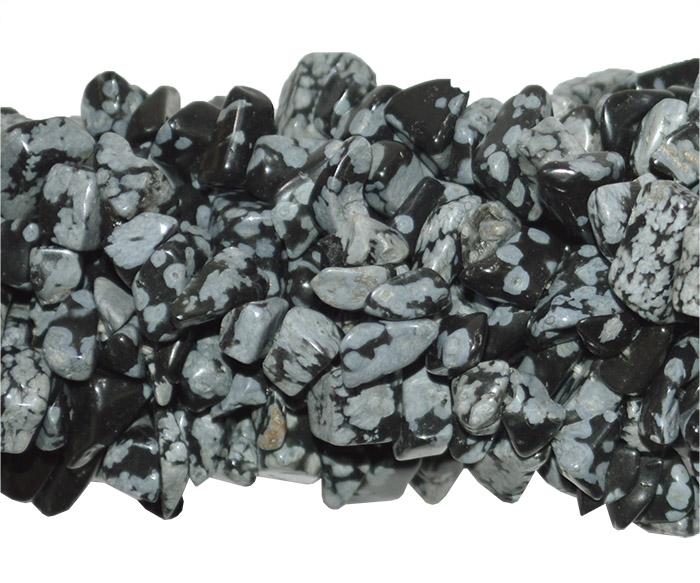 cascalho de obsidiana floco de neve