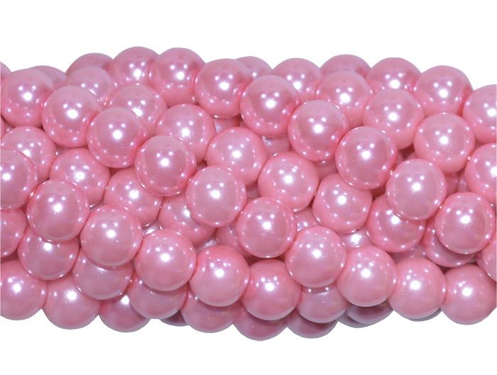 pérola de vidro rosa escuro
