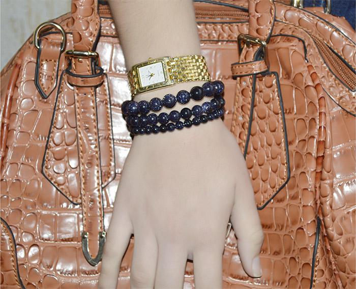 pulseira de goldstone azul