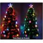 �rvore de Natal 1,50 Mts com Fibras �ticas e Leds Coloridos + Enfeite de Acr�lico - Magazine Legal